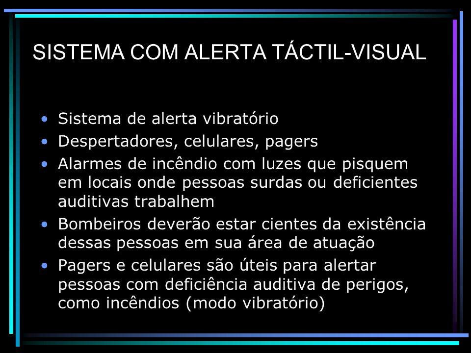 SISTEMA COM ALERTA TÁCTIL-VISUAL