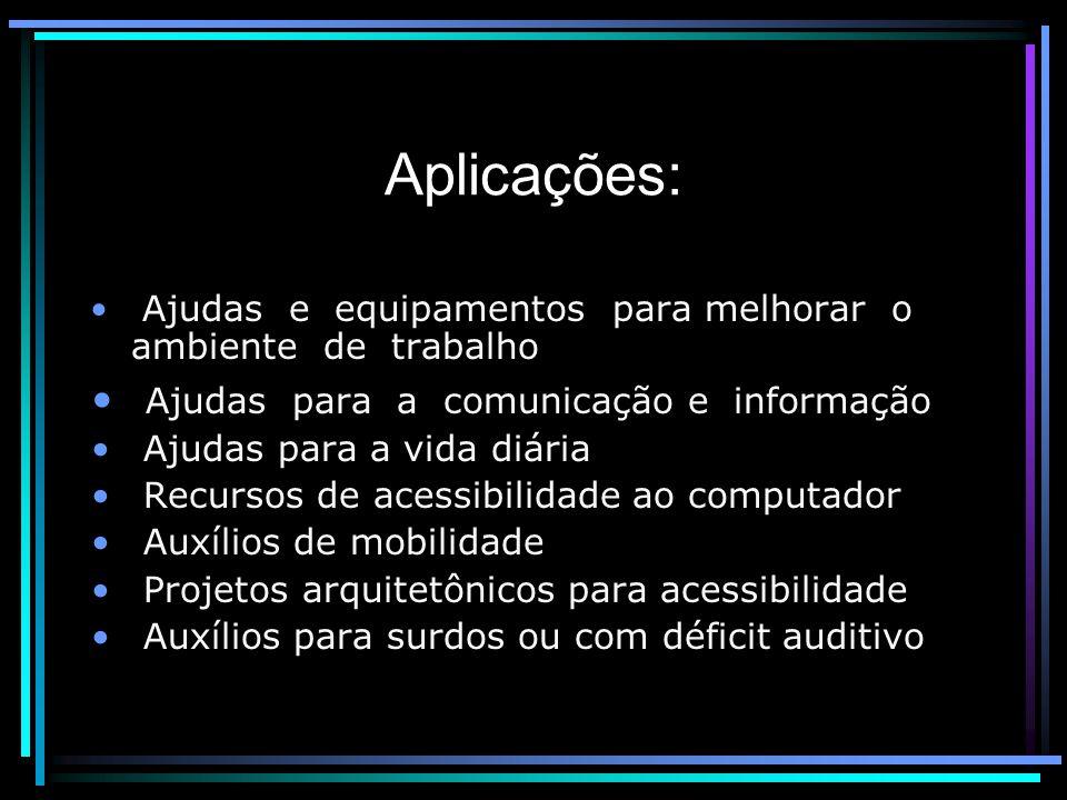 Aplicações: Ajudas para a comunicação e informação