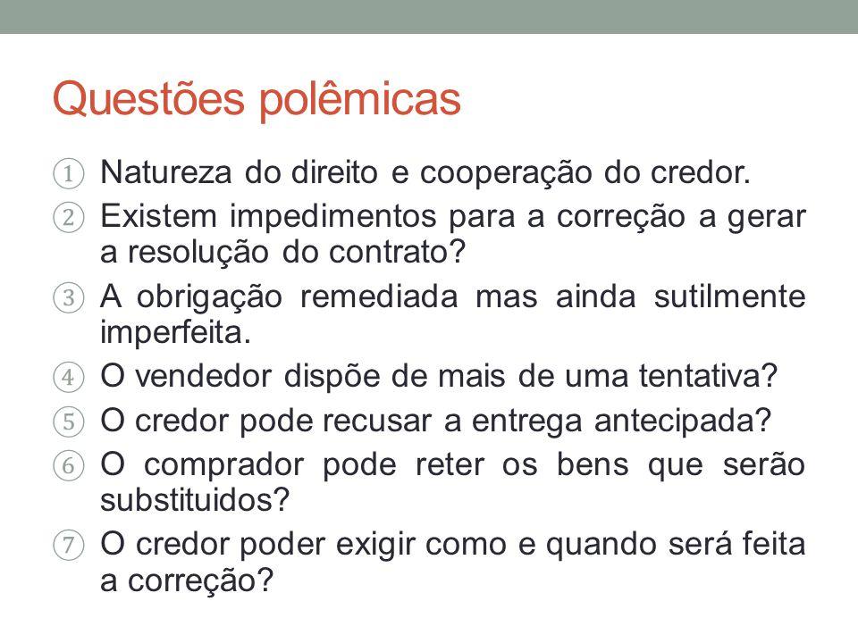 Questões polêmicas Natureza do direito e cooperação do credor.