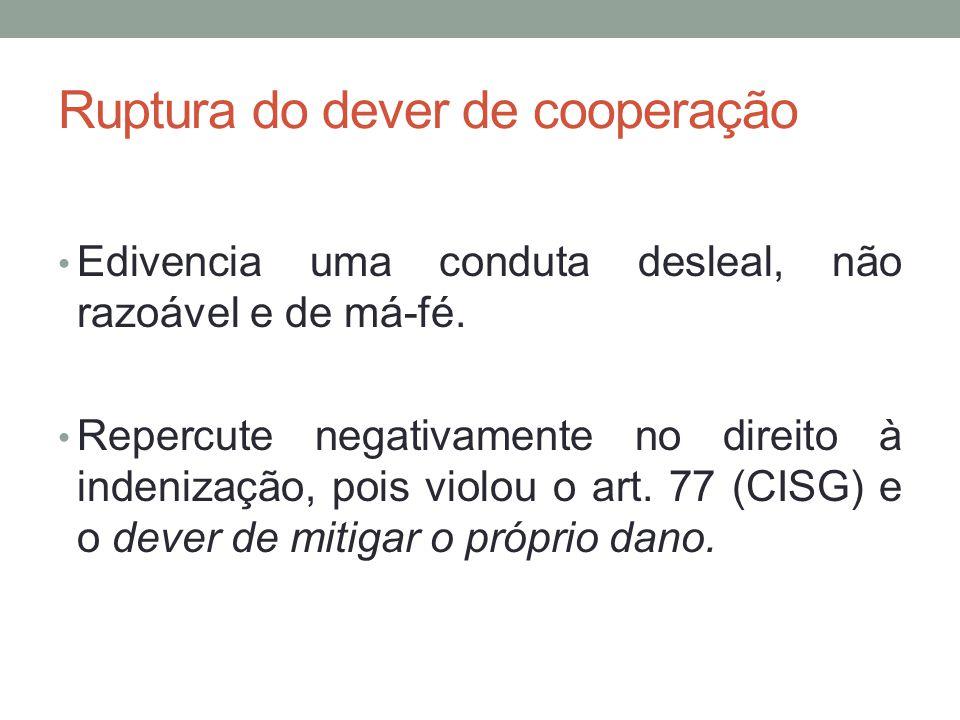 Ruptura do dever de cooperação