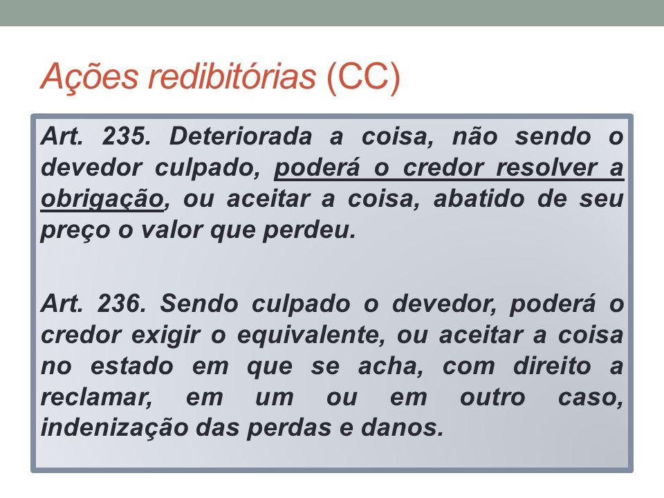 Ações redibitórias (CC)