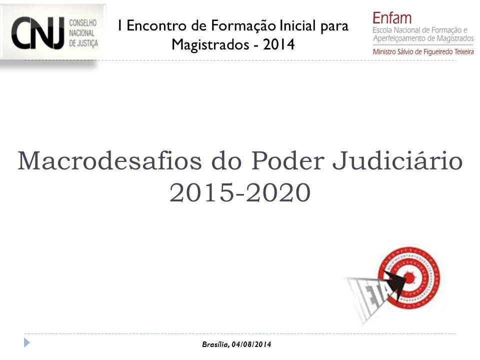Macrodesafios do Poder Judiciário 2015-2020
