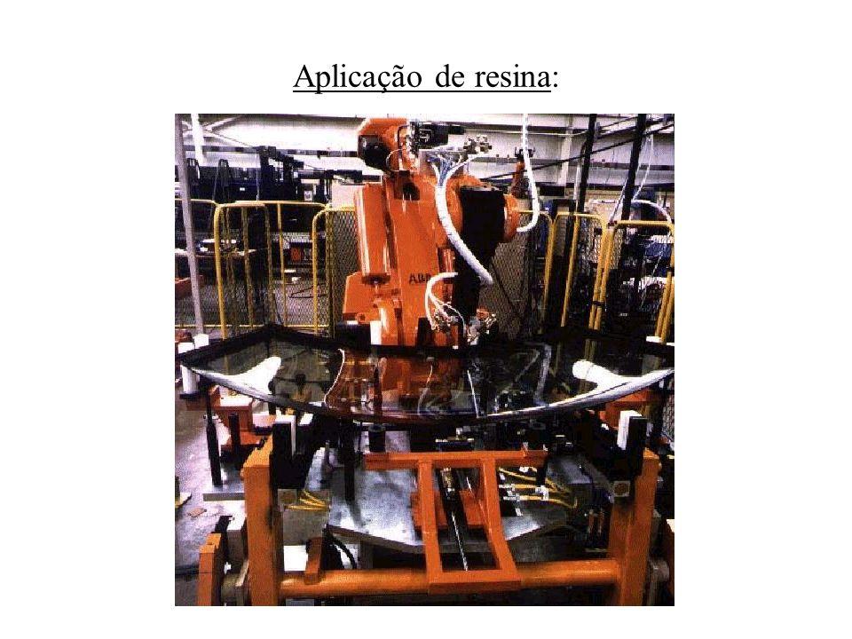 Aplicação de resina: