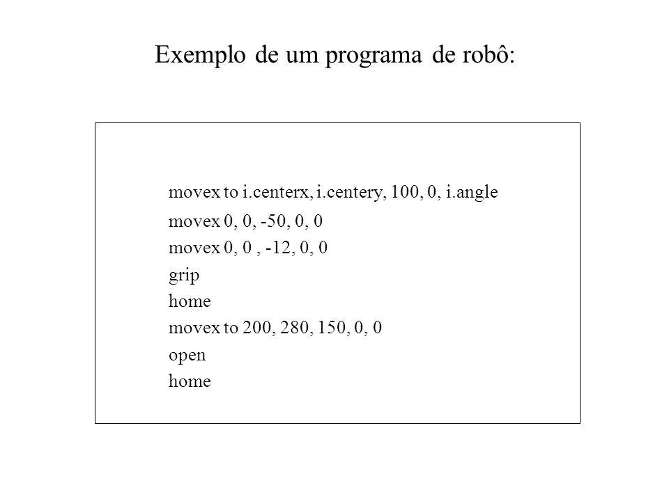 Exemplo de um programa de robô:
