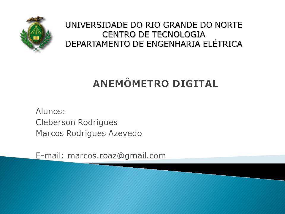 UNIVERSIDADE DO RIO GRANDE DO NORTE CENTRO DE TECNOLOGIA DEPARTAMENTO DE ENGENHARIA ELÉTRICA