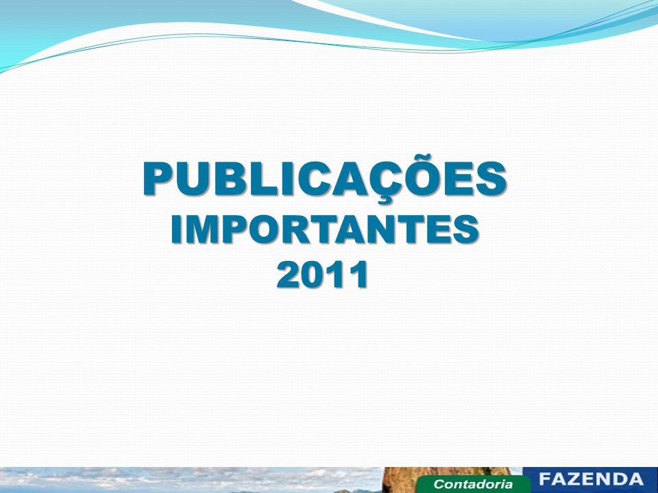 PUBLICAÇÕES IMPORTANTES