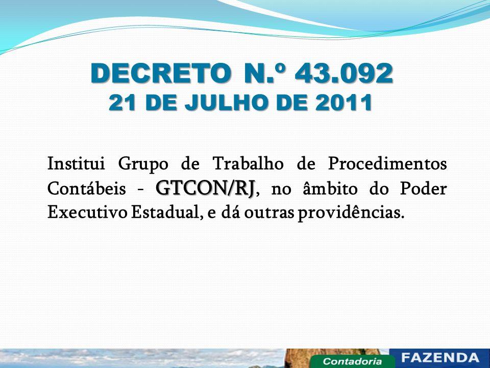 DECRETO N.º 43.092 21 DE JULHO DE 2011.