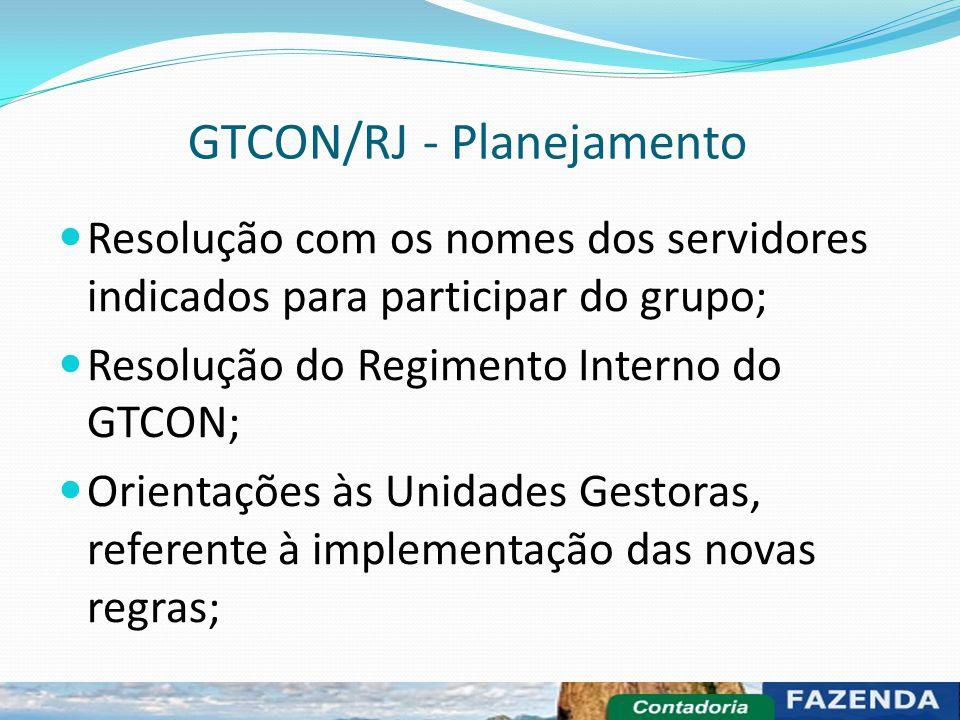 GTCON/RJ - Planejamento