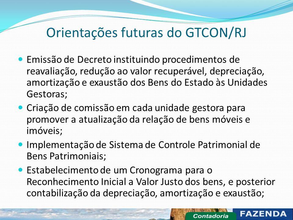 Orientações futuras do GTCON/RJ
