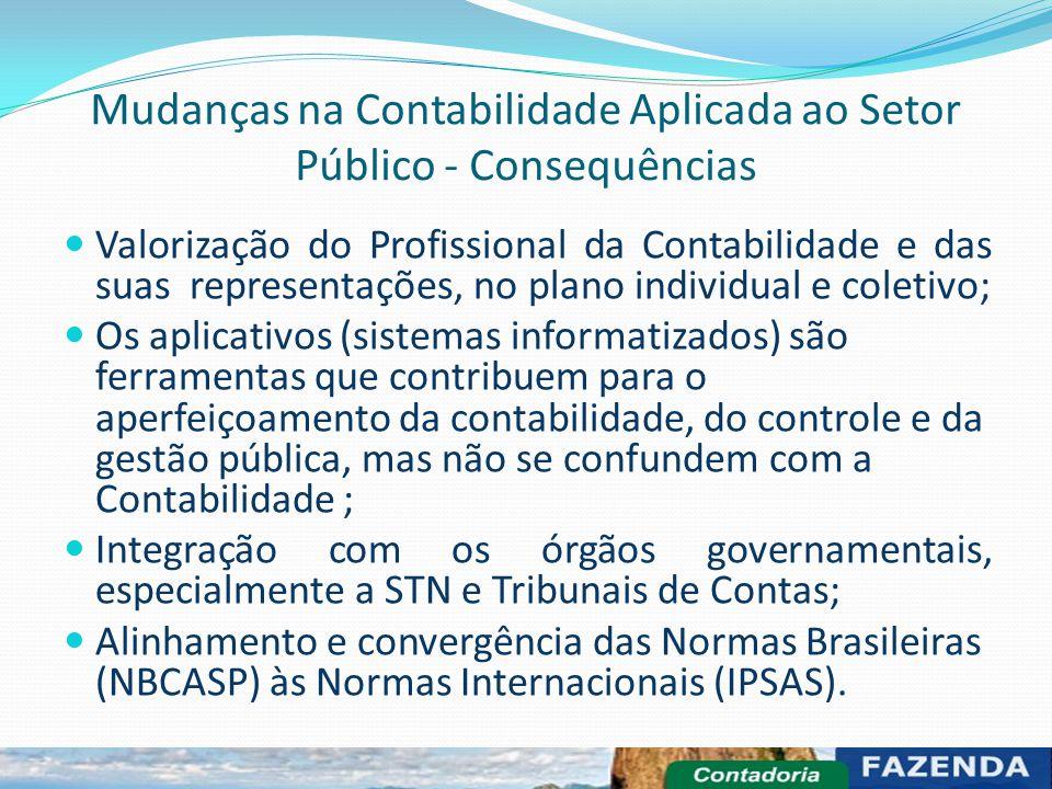 Mudanças na Contabilidade Aplicada ao Setor Público - Consequências