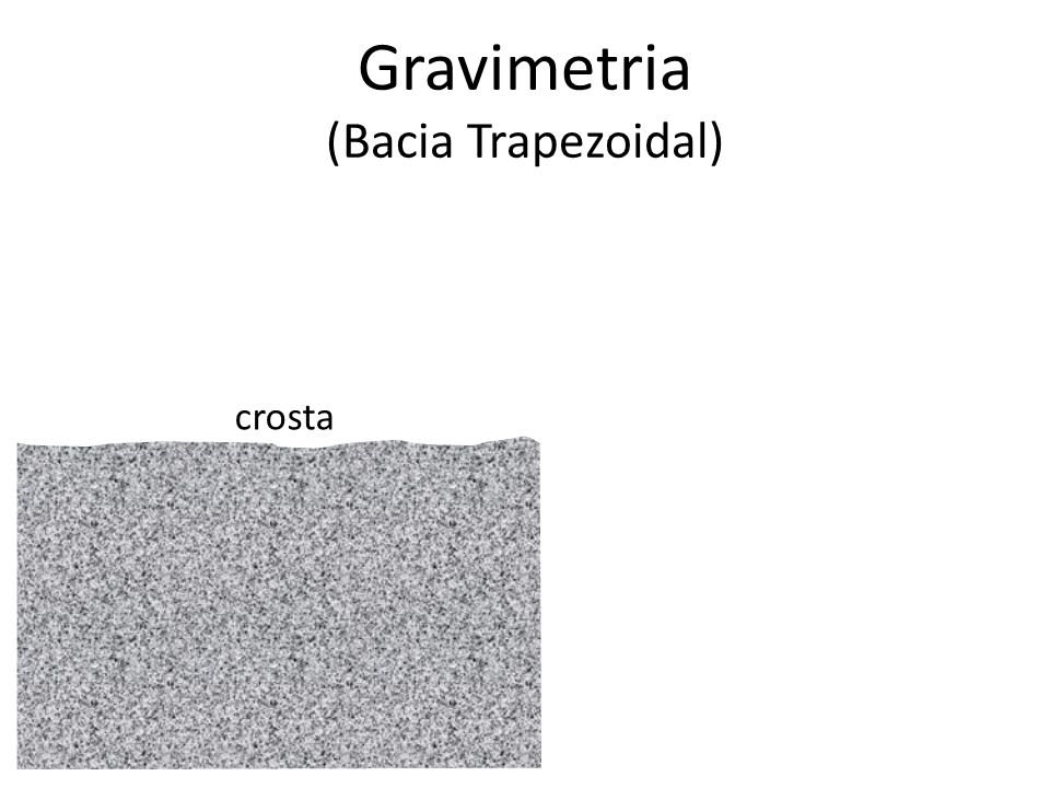 Gravimetria (Bacia Trapezoidal)