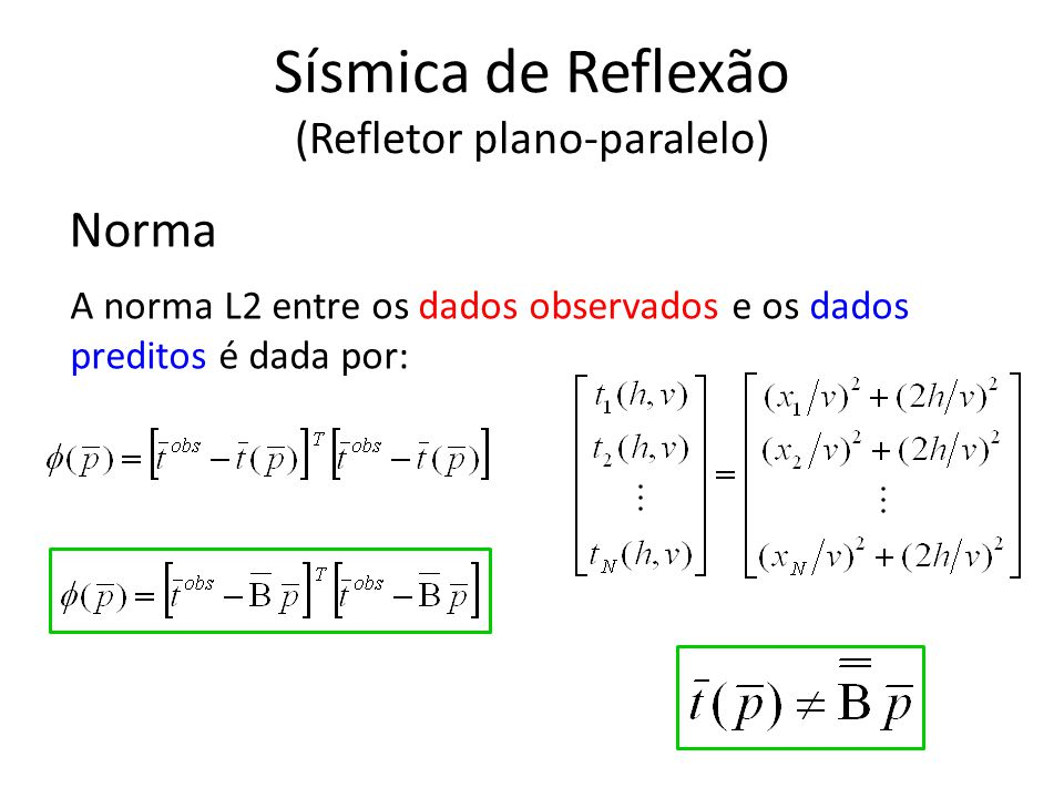 Sísmica de Reflexão (Refletor plano-paralelo)