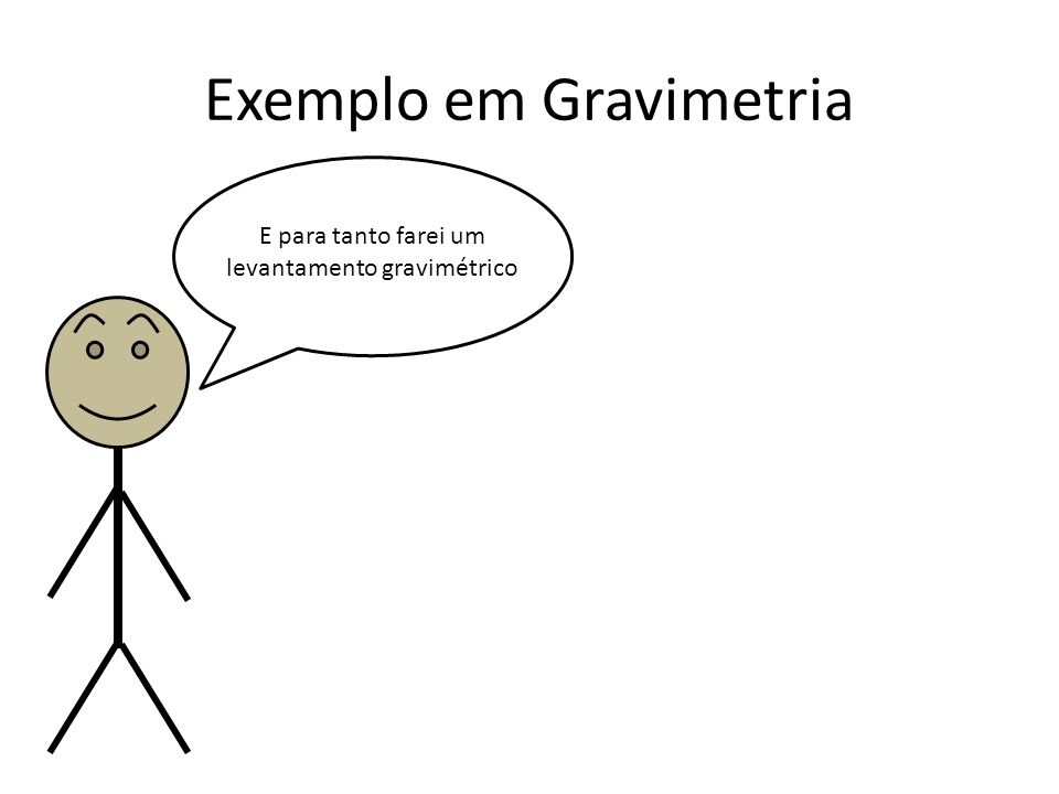 Exemplo em Gravimetria