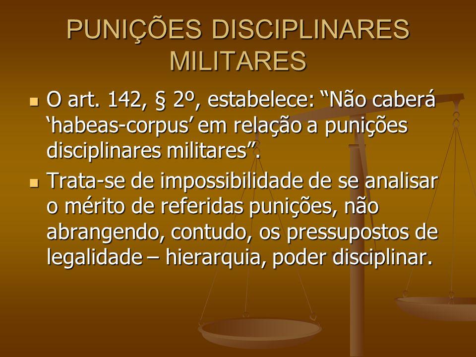 PUNIÇÕES DISCIPLINARES MILITARES
