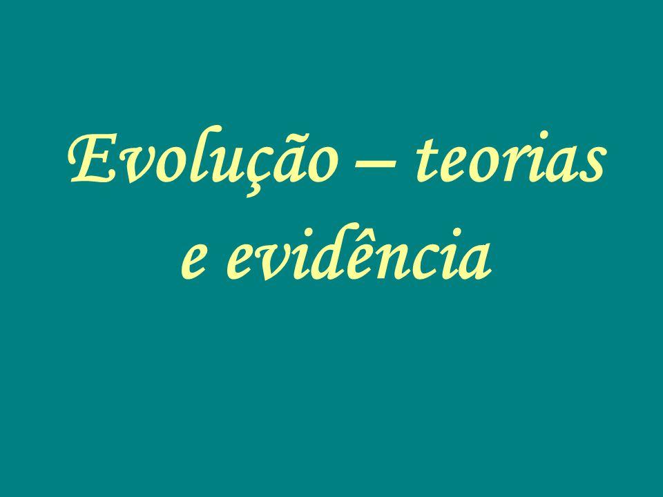 Evolução – teorias e evidência