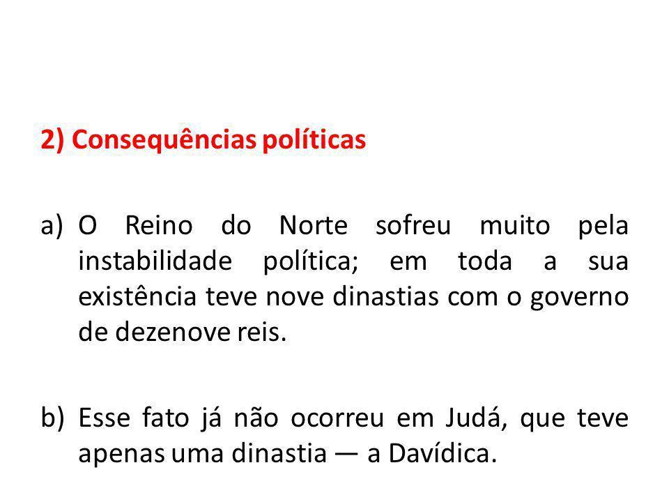2) Consequências políticas