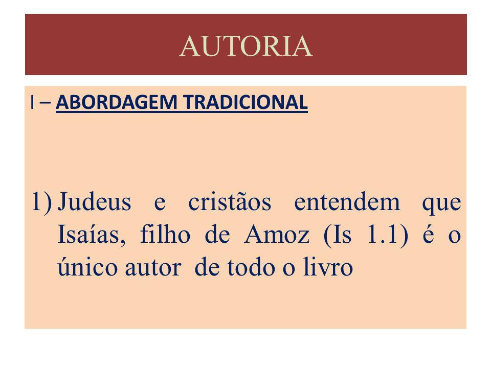 AUTORIA I – ABORDAGEM TRADICIONAL.