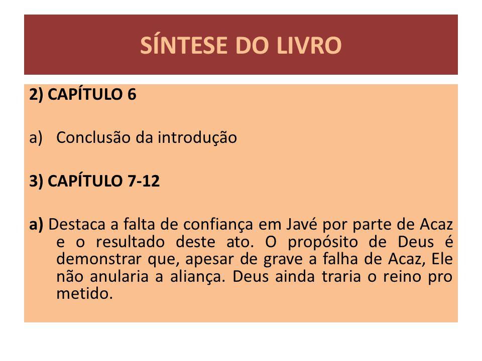 SÍNTESE DO LIVRO 2) CAPÍTULO 6 Conclusão da introdução
