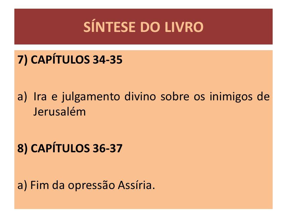SÍNTESE DO LIVRO 7) CAPÍTULOS 34-35