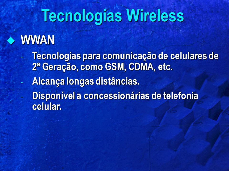 Tecnologias Wireless WWAN
