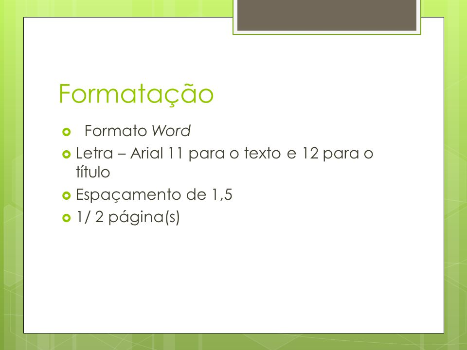 Formatação Formato Word