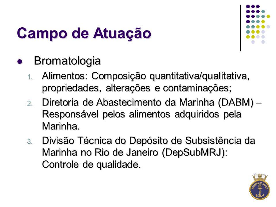 Campo de Atuação Bromatologia