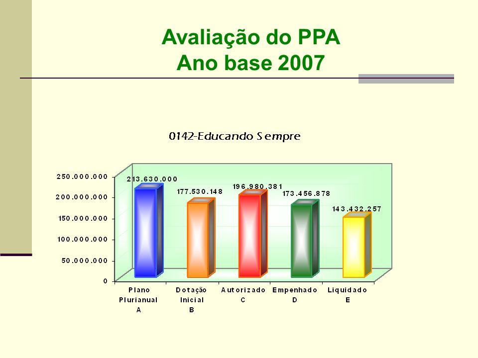 Avaliação do PPA Ano base 2007
