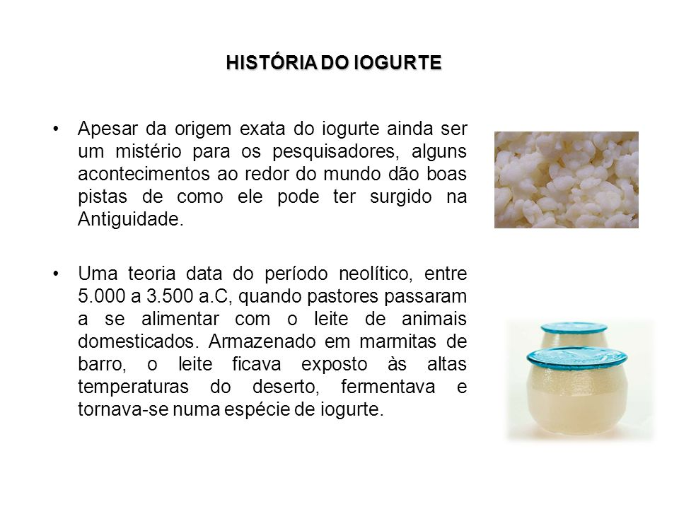 HISTÓRIA DO IOGURTE