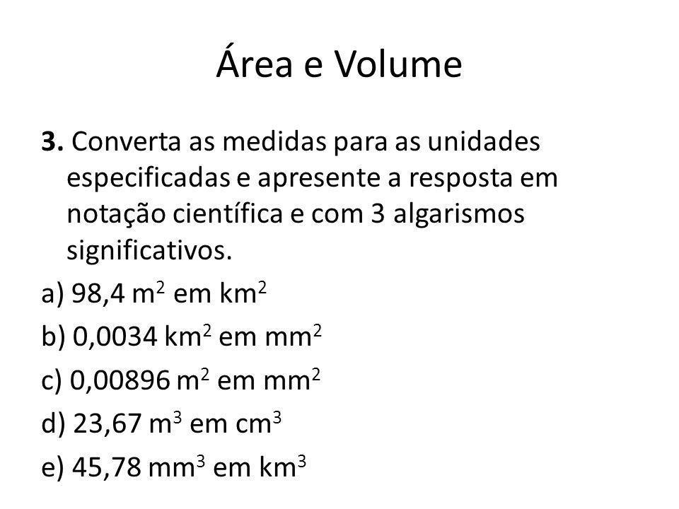 Área e Volume