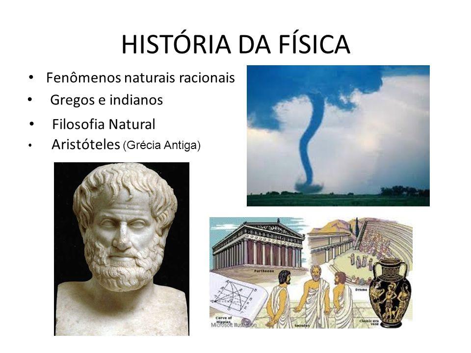 HISTÓRIA DA FÍSICA Fenômenos naturais racionais Gregos e indianos