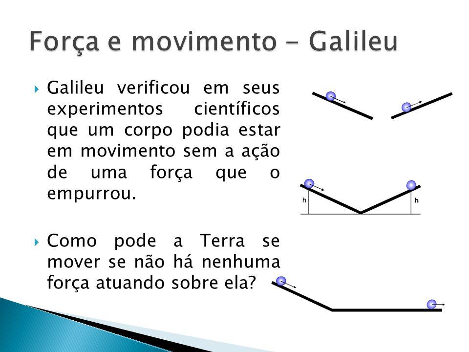Força e movimento - Galileu
