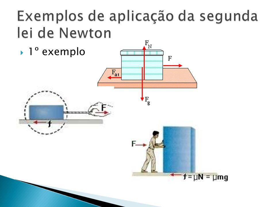 Exemplos de aplicação da segunda lei de Newton
