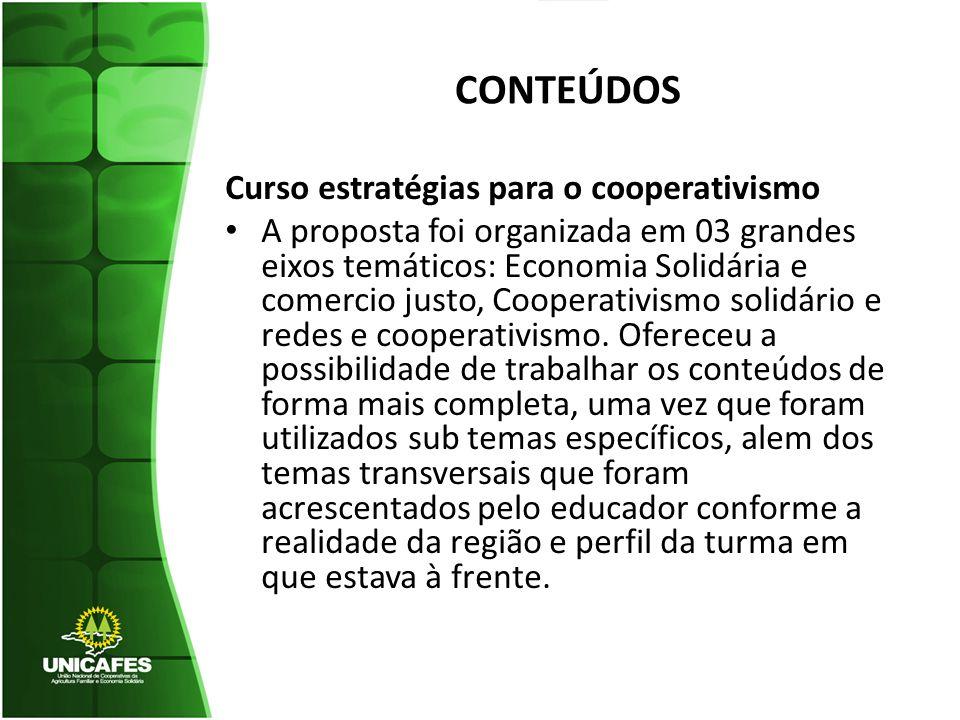 CONTEÚDOS Curso estratégias para o cooperativismo