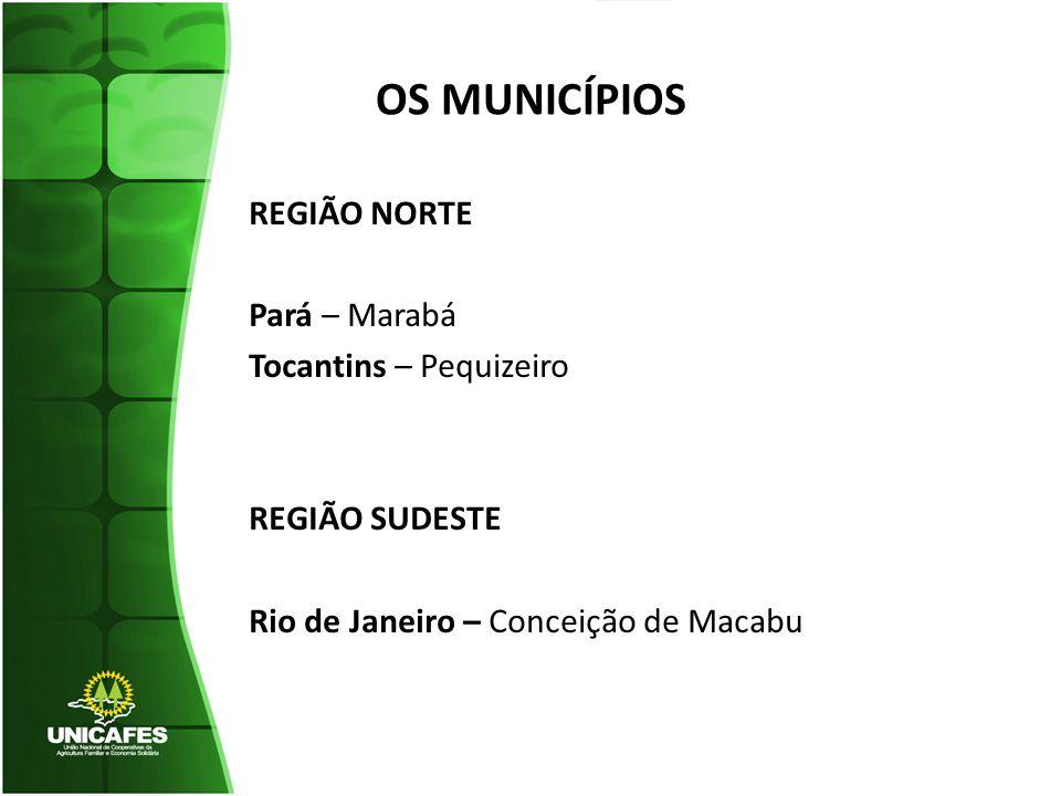 OS MUNICÍPIOS REGIÃO NORTE Pará – Marabá Tocantins – Pequizeiro