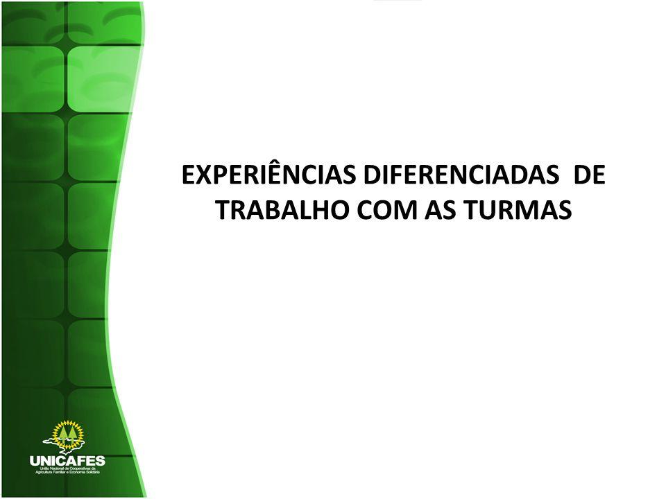 EXPERIÊNCIAS DIFERENCIADAS DE TRABALHO COM AS TURMAS