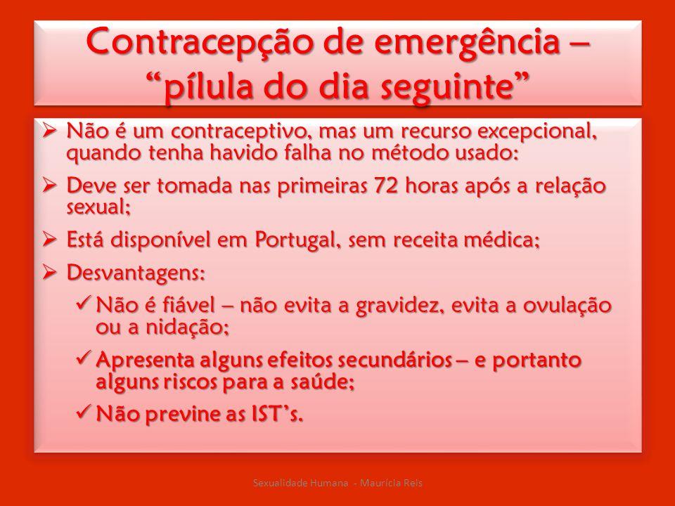 Contracepção de emergência – pílula do dia seguinte