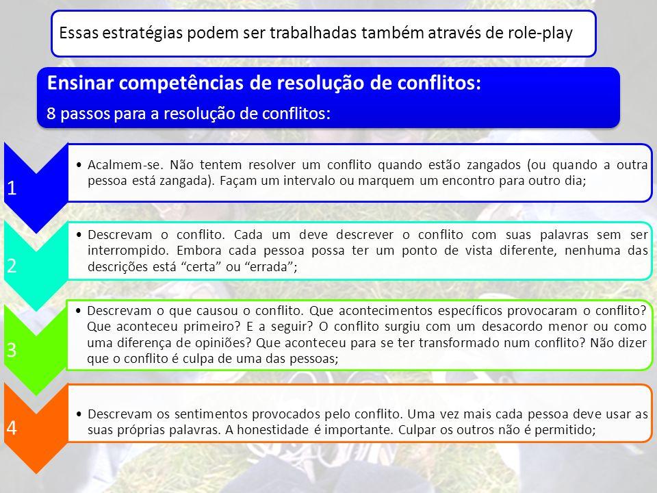 Ensinar competências de resolução de conflitos: