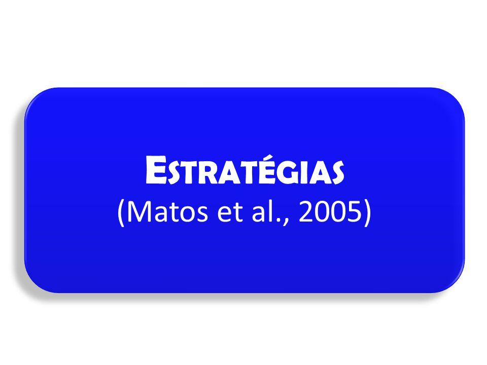Estratégias (Matos et al., 2005)