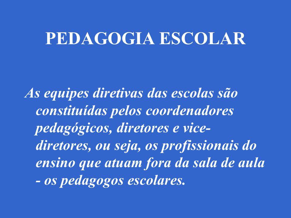 PEDAGOGIA ESCOLAR