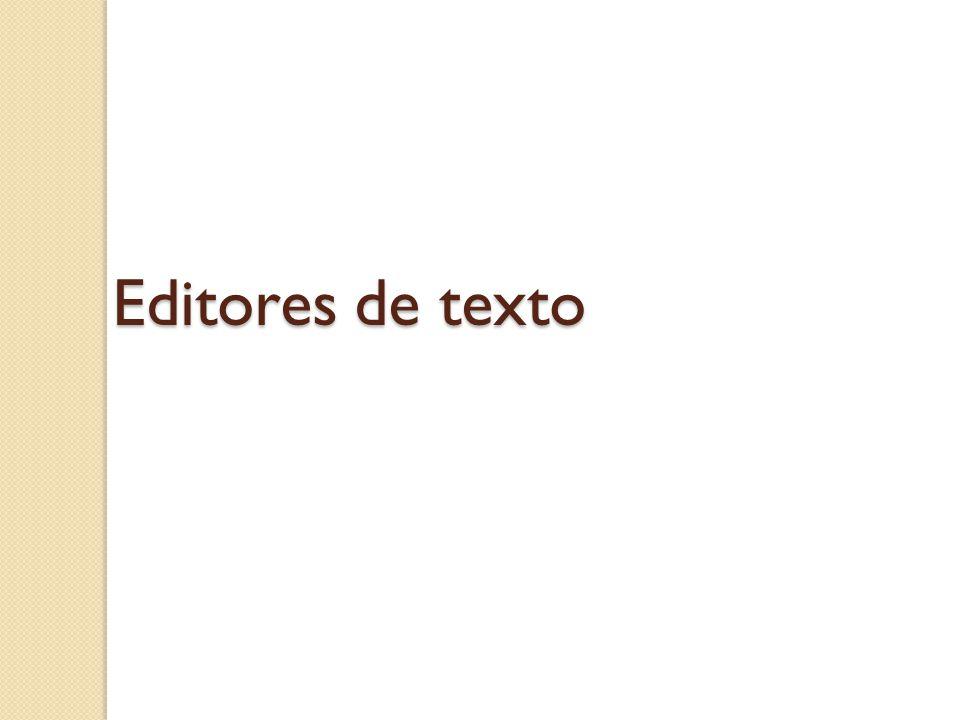 Editores de texto
