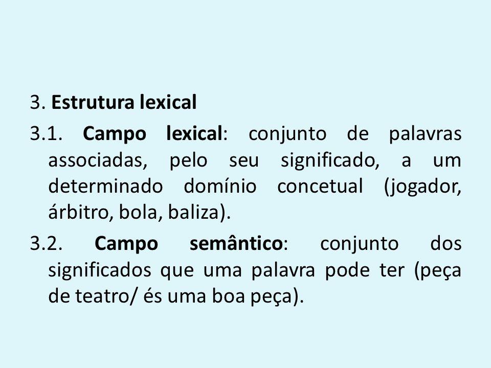 3. Estrutura lexical 3.1.