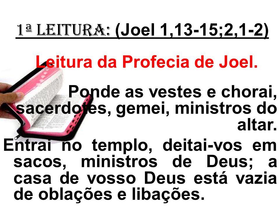 Leitura da Profecia de Joel.
