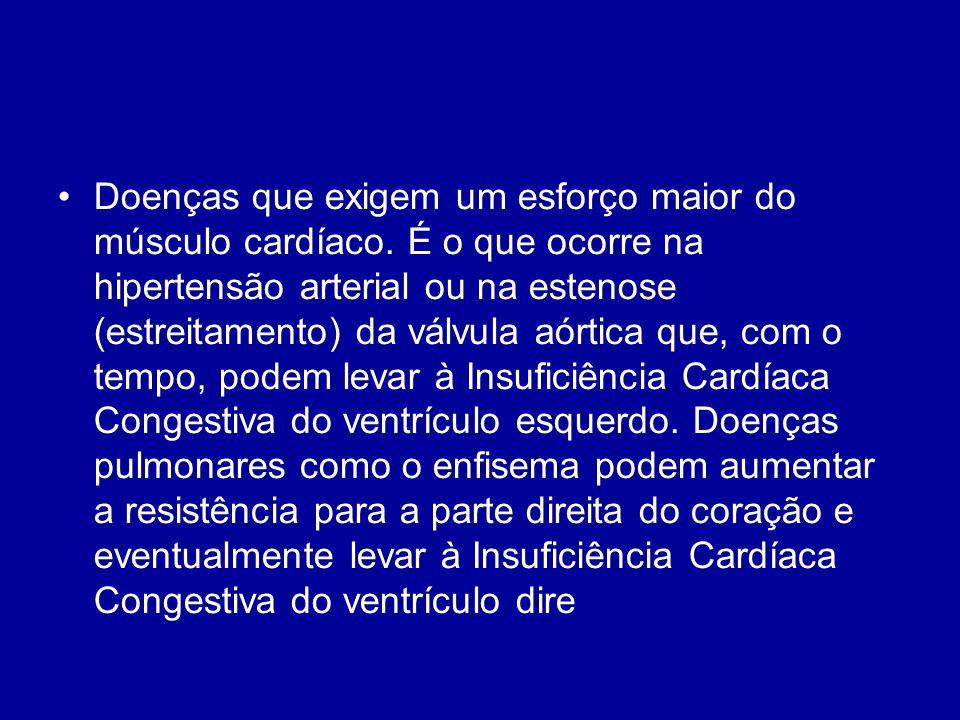 Doenças que exigem um esforço maior do músculo cardíaco
