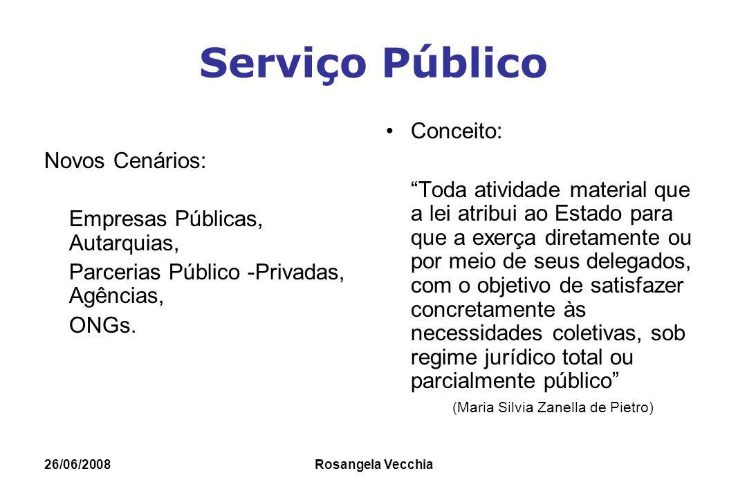 Serviço Público Conceito: Novos Cenários: