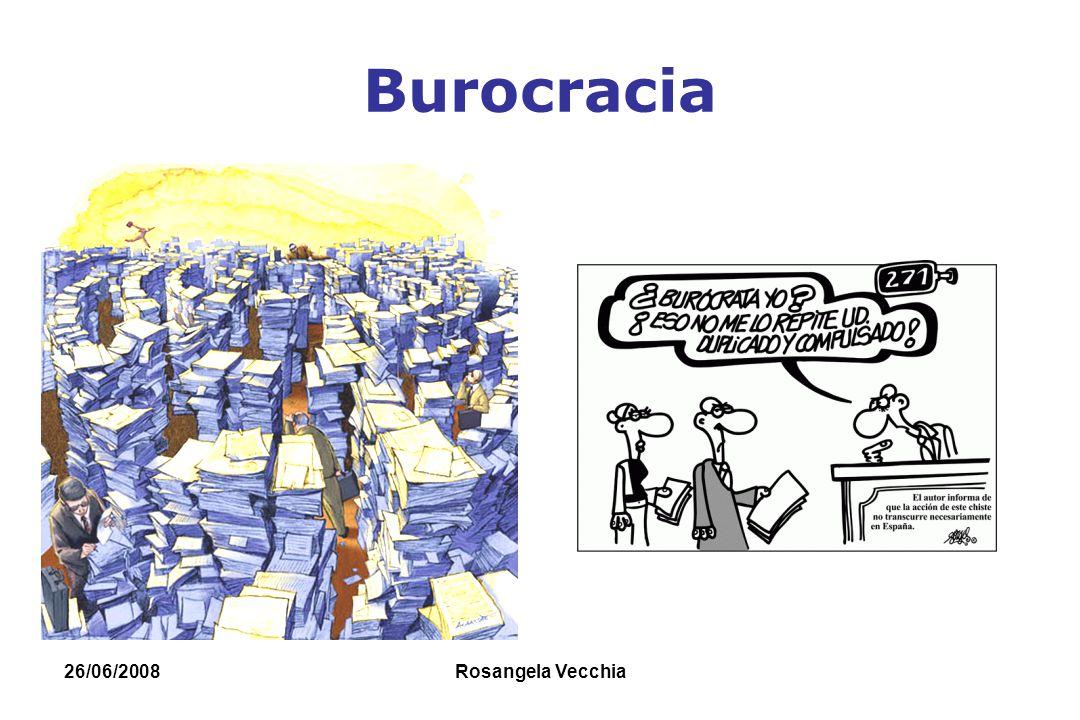 Burocracia 26/06/2008 Rosangela Vecchia