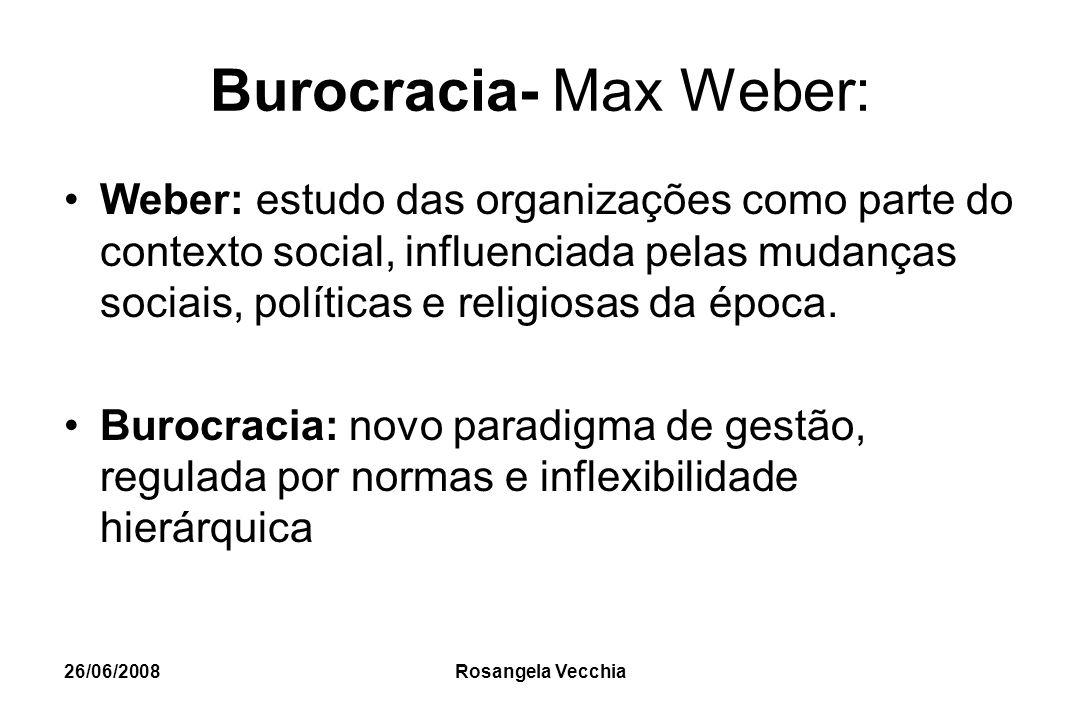 Burocracia- Max Weber: