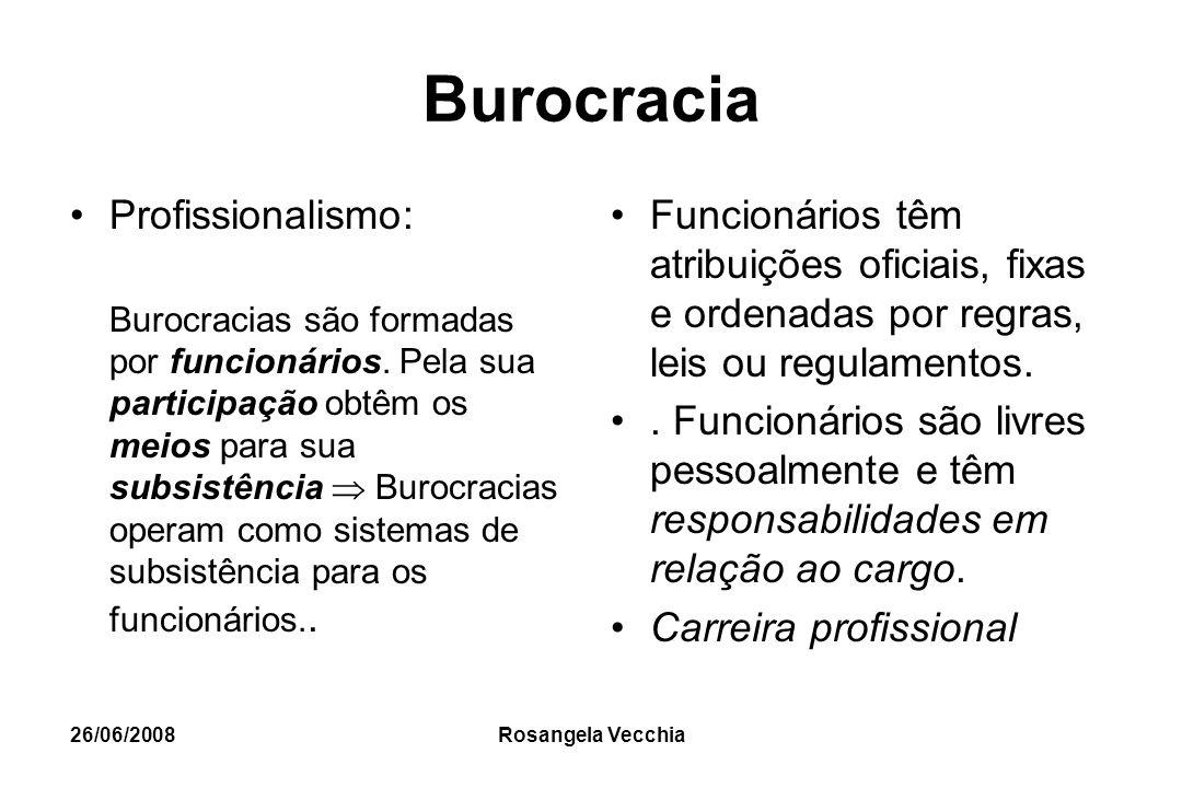 Burocracia Profissionalismo: