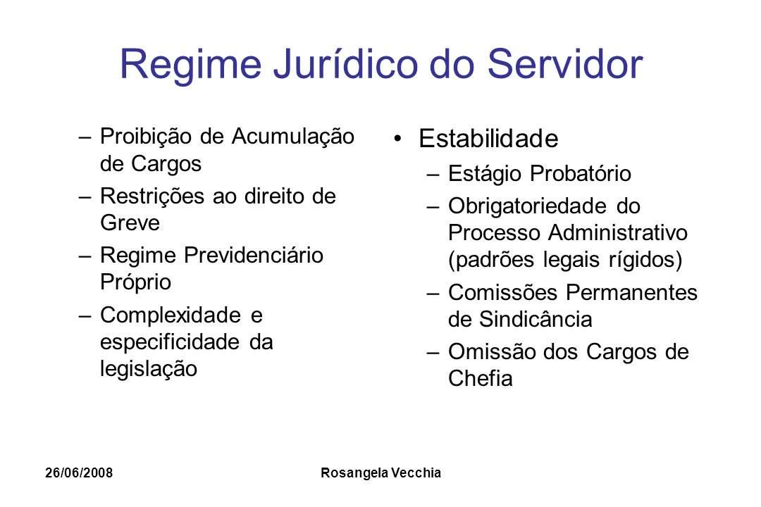 Regime Jurídico do Servidor