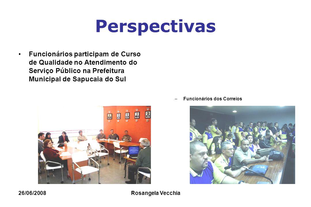 Perspectivas Funcionários participam de Curso de Qualidade no Atendimento do Serviço Público na Prefeitura Municipal de Sapucaia do Sul.