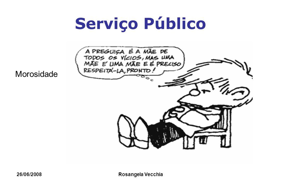 Serviço Público Morosidade 26/06/2008 Rosangela Vecchia